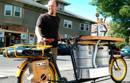 beer bike unquenchable peddling