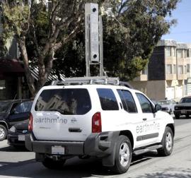 Earthmine rangefinder camera truck