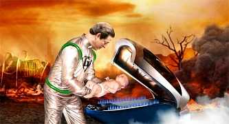 The Onion - Al Gore Places Infant Son In Rocket To Escape Dying Planet