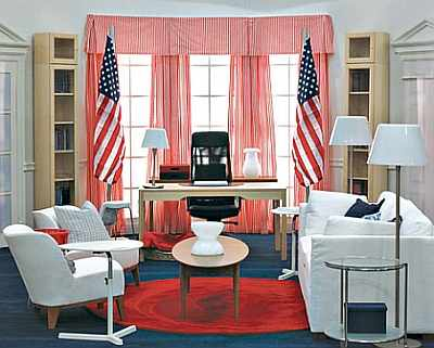 Ikea's Oval Office for Obama