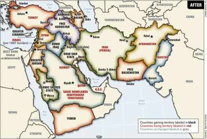 new map  middle east