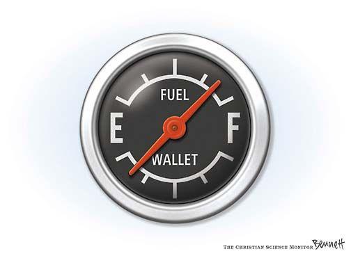 Gas gauge by Bennett at CSMonitor