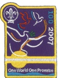 Badge, 2007 Centenary of Scouting