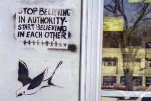 Stop believing in authority. Believe in each other. vrzine #31