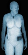 Backscatter body scanning x-ray