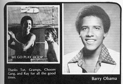 Barrack 'Barry' Obama, senior yearbook, Class of '79