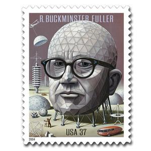 Buckminster Fuller postage stamp