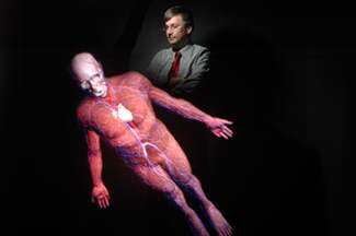 UofC CAVEman 4D Virtual Human Body on the floor
