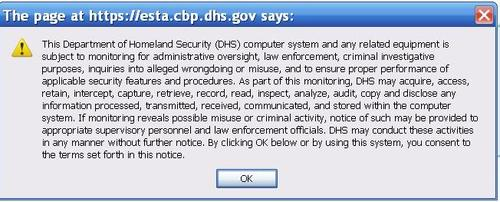 DHS - waive your legal rights