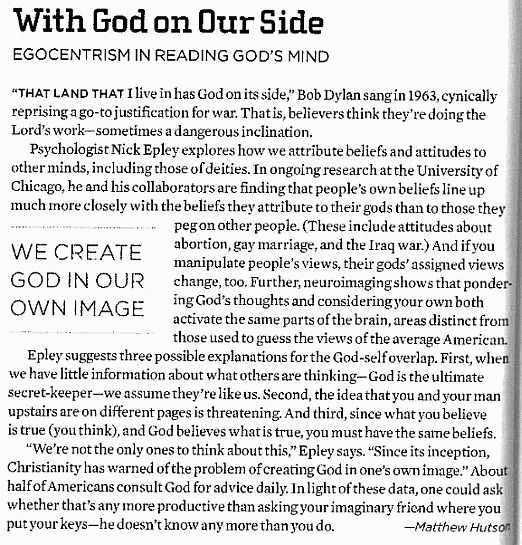 Matthew Hutson, Nick Epley, God, Psychology Today