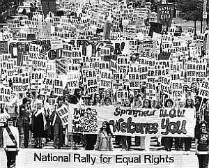 AP - Marchers demonstrate for the Equal Rights Amendment, May 16, 1976