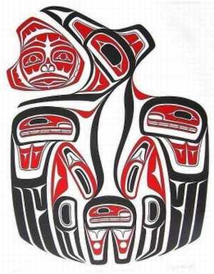Haida art, Raven Releasing the Sun