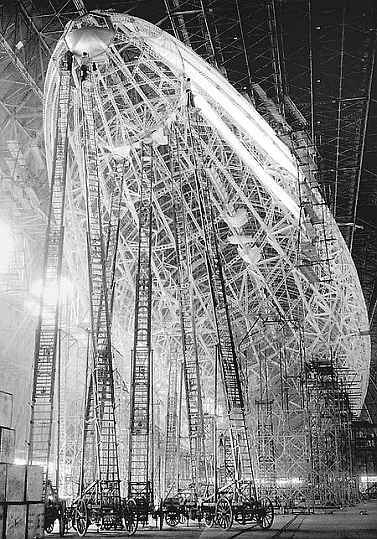 The Hindenburg zeppelin ladders