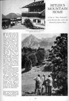 1938 Home & Gardens - Hitler's mountain home