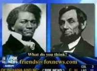 Frederick Douglass, Abraham Lincoln, running for Senate on Fox News