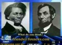 Frederick Douglass, Abraham Lincoln, running for Senate on Fox News