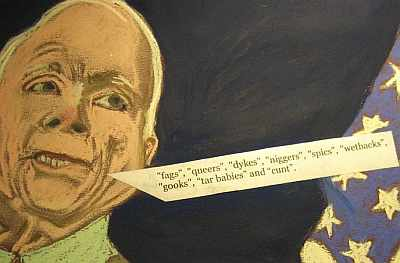 McCain and his 'maverick' words, by Artist Polly