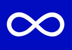 first flag used in Canada by 1816 Metis fighters
