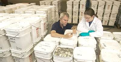 Odyssey counts tons of silver coins