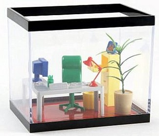 Office in a fish tank