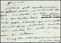 Old handwritten letter