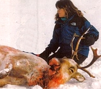 Sarah Palin, rifle hunter