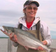 Governor Palin fishing