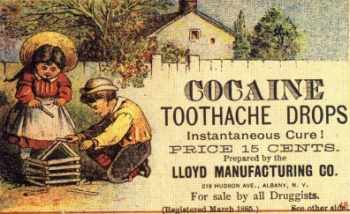 Once common advertising of today's criminal drugs