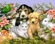 Portrait painting of pets