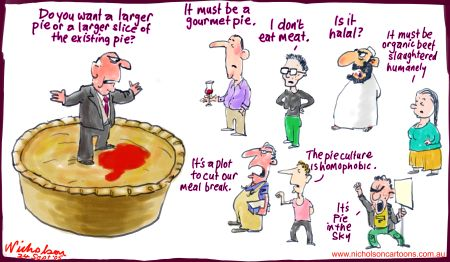 National interest or interest groups? Nicholson Cartoons