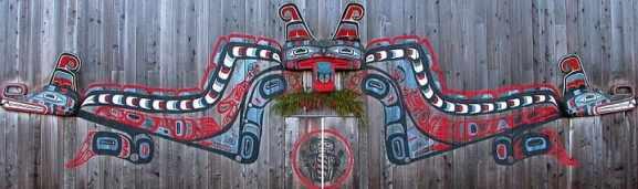 First Nation potlatch bighouse