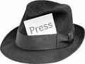 Press badge hat