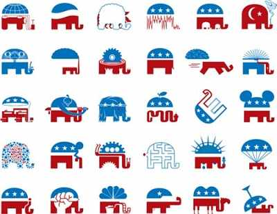 The Republican Dumbo Elephant 'redesign two'