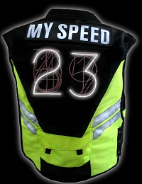SPEED-VEST is a bicycle safety device
