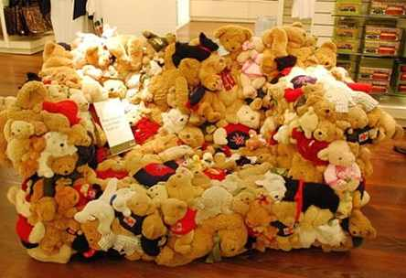 Harrod's Stuffed Teddy Bear Couch