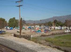 Tent City for homeless, Daily Bulletin