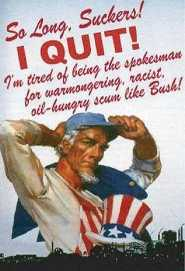 Uncle Sam quits the USA