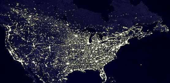 This is what the Earth looks like at night